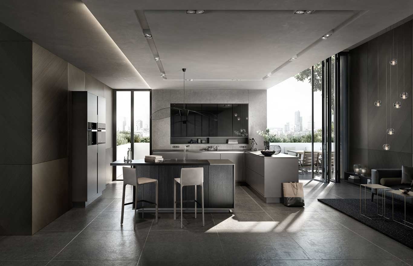 siematic pure collection cuisine design contemporaine dotti design. Black Bedroom Furniture Sets. Home Design Ideas