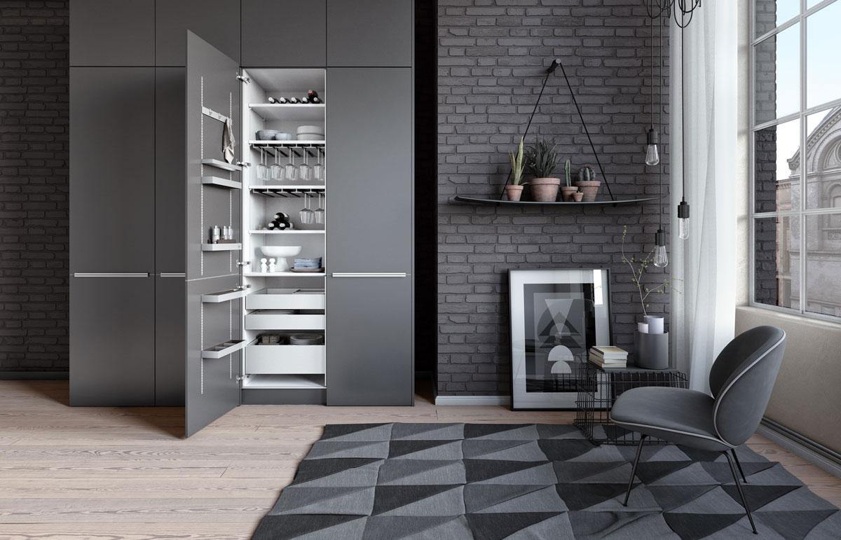 SieMatic MultiMatic - Rangement de cuisine haut de gamme - Dotti Design, Toulouse